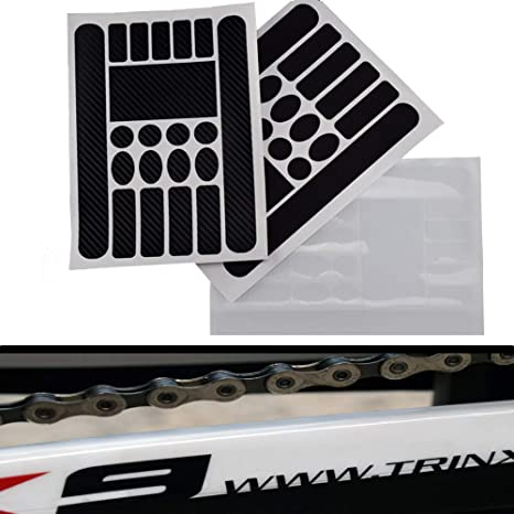Durable MTB Scratch Protection Chain Posted Bicycle Frame Protective Sticker UK
