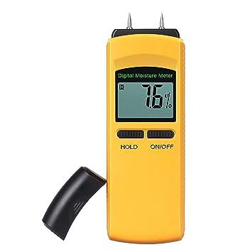 Neoteck Humidímetro Digital Medidor de Humedad 4 Pins para Madera Cartón Papel Pared Algodón etc: Amazon.es: Electrónica