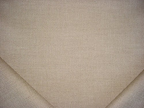 368RT13 - Beige / Light Taupe 100% Heavy Weight Linen Textured Weave Designer Upholstery Drapery Fabric - By the ()