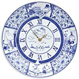moomin ~ amabro SOMETSUKE CLOCK TIME GOES ON Amaburo dyed clock [ Blue ]