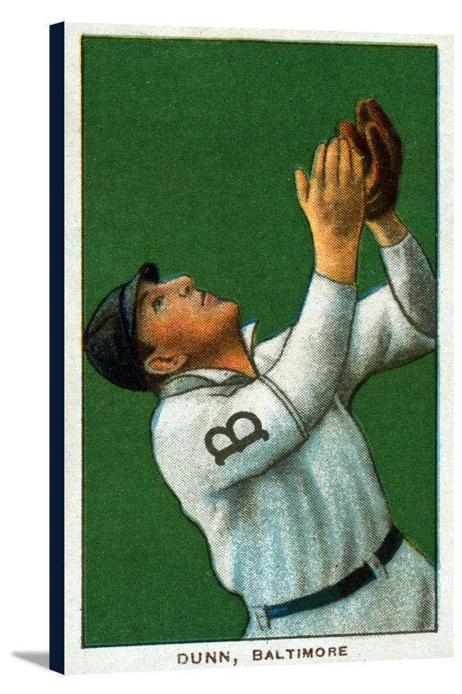 Baltimore Eastern League – ジョンDunn – 野球カード 19 1/2 x 36 Gallery Canvas LANT-3P-SC-23319-24x36 B0184AB5NS  19 1/2 x 36 Gallery Canvas