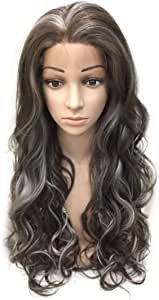 Fluffy Long Curly with Highlight Lace front Wig for Women - 8-101SSS