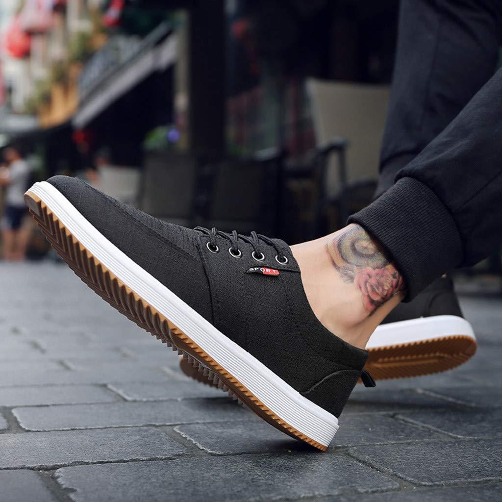 Chaussures De Sport /à Lacets En Toile Chaussures De Course Chaussures Simples Polyvalentes Et L/éG/èRes Dtuta Chaussures De Sport Pour Hommes Chaussures Respirantes