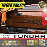 #2: All-Weather TOYOTA TUNDRA (Matte Black) Tailgate Vinyl Decals Letters Insert Sticker 2014-2018