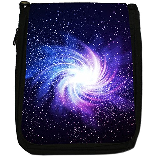 In Shoulder Glowing Medium Size Exploration Canvas Space Bag Black Galaxy xwFzIpT7q0
