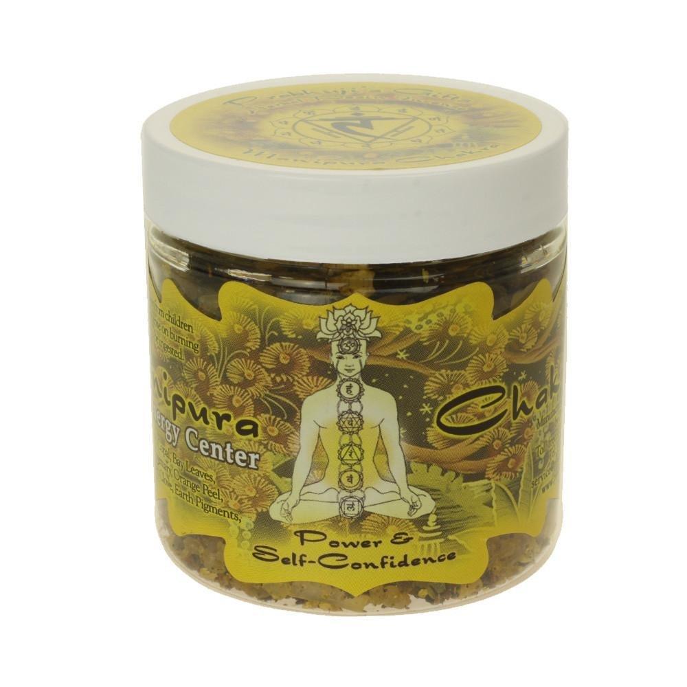 Indian Handicrafts Export Resin Incense Solar Plexus Chakra Manipura - Self-confidence and Transformation - 2.4oz jar