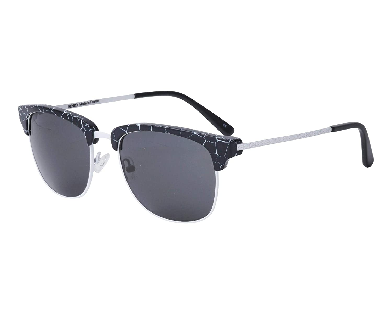 3fdfbfd435 Amazon.com  Kenzo sunglasses (KZ-5116 C03) Black print - White - Grey  lenses  Clothing