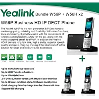 Yealink W56P + W56H X2 Cordless VoIP Phone PoE HD Voice and Base Unit USB Charge