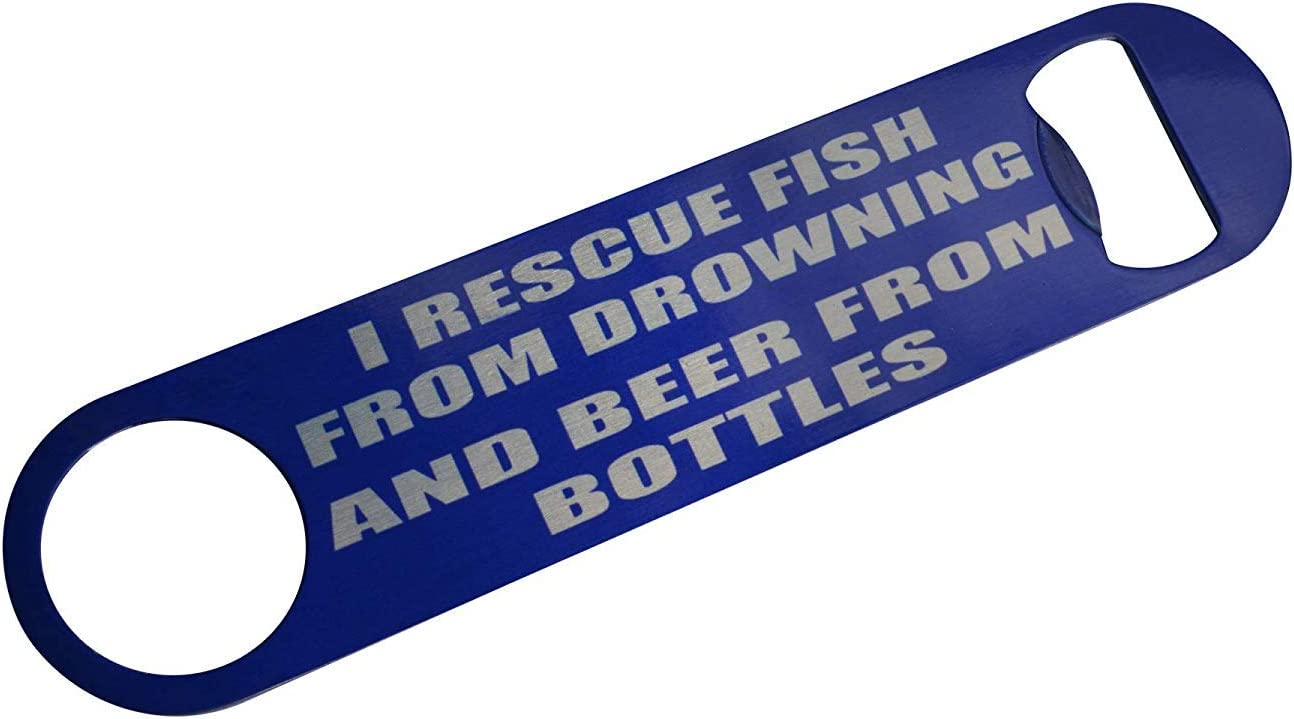 Funny Fishing Bottle Opener Heavy Duty Gift For Men Dad Father Husband Rescue Fish [並行輸入品]