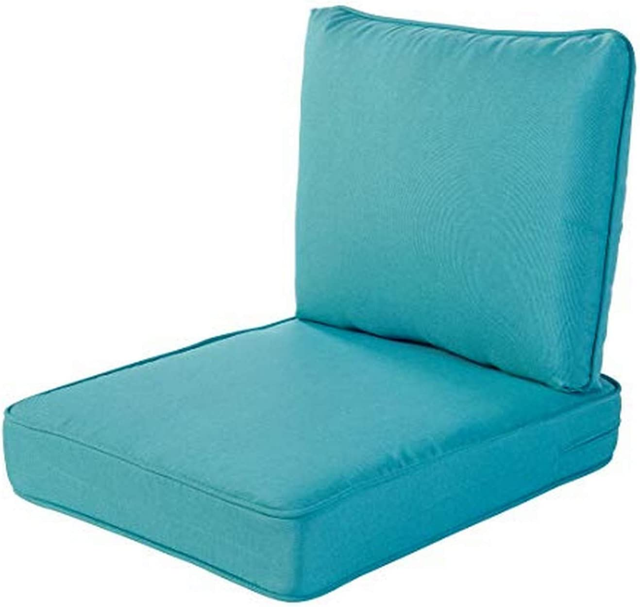Quality Outdoor Living 29-TQ04SB All-Weather Deep Seating Chair Cushion, 23 x 26 (Pack of 2), Turquoise