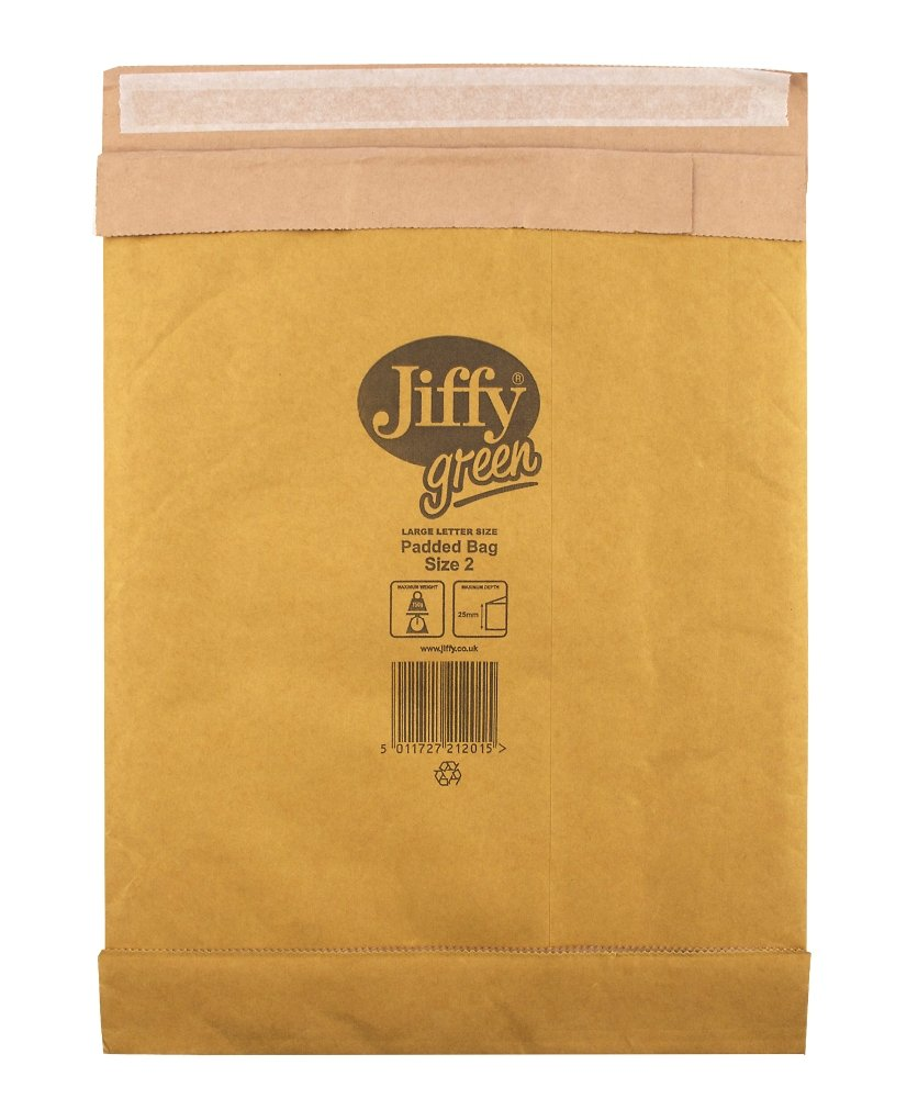 Heavy Duty Protection 100/% Paper Pack of 100 195 x 280mm Size 2 Jiffy Padded Bags