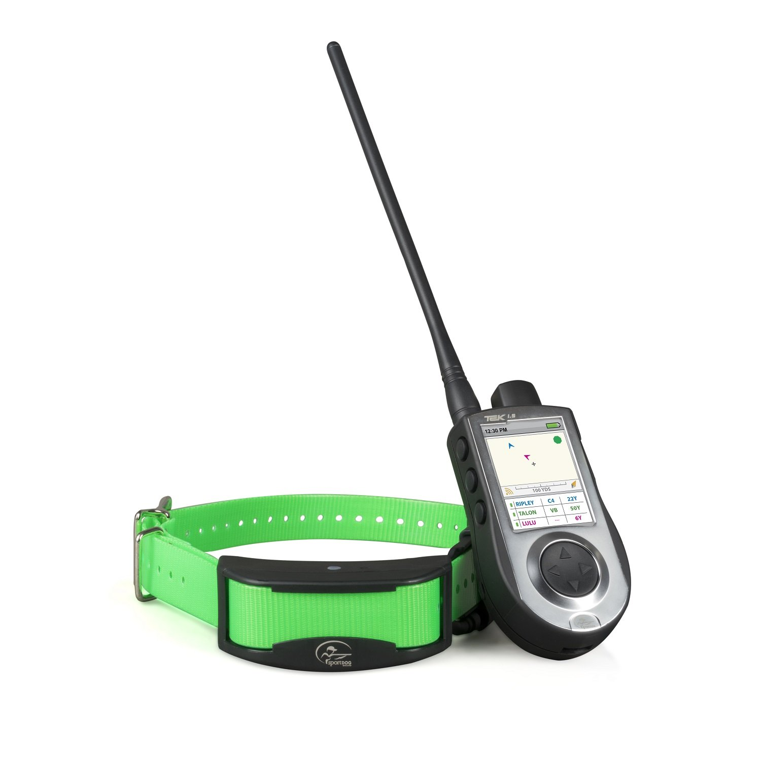 TEK 1.5 SportDOG Brand TEK Series 1.5 GPS Tracking + E-Collar System 7 Mile Range Waterproof and Rechargeable Tone, Vibration, and 99 Levels of Shock Expandable to Locate and Train up to 12 Dogs