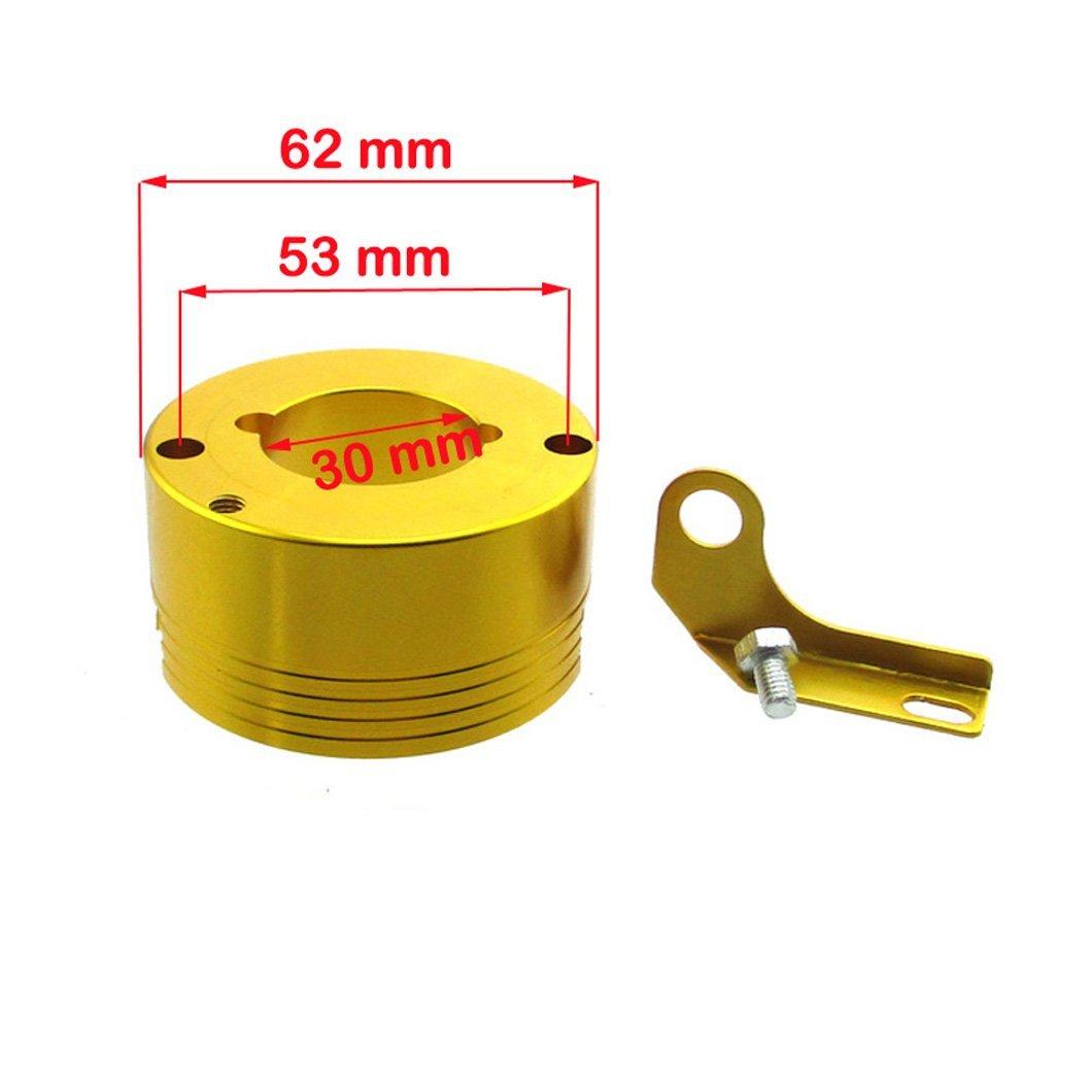XLYZE CNC Billet adaptador de filtro de aire de aluminio con ...