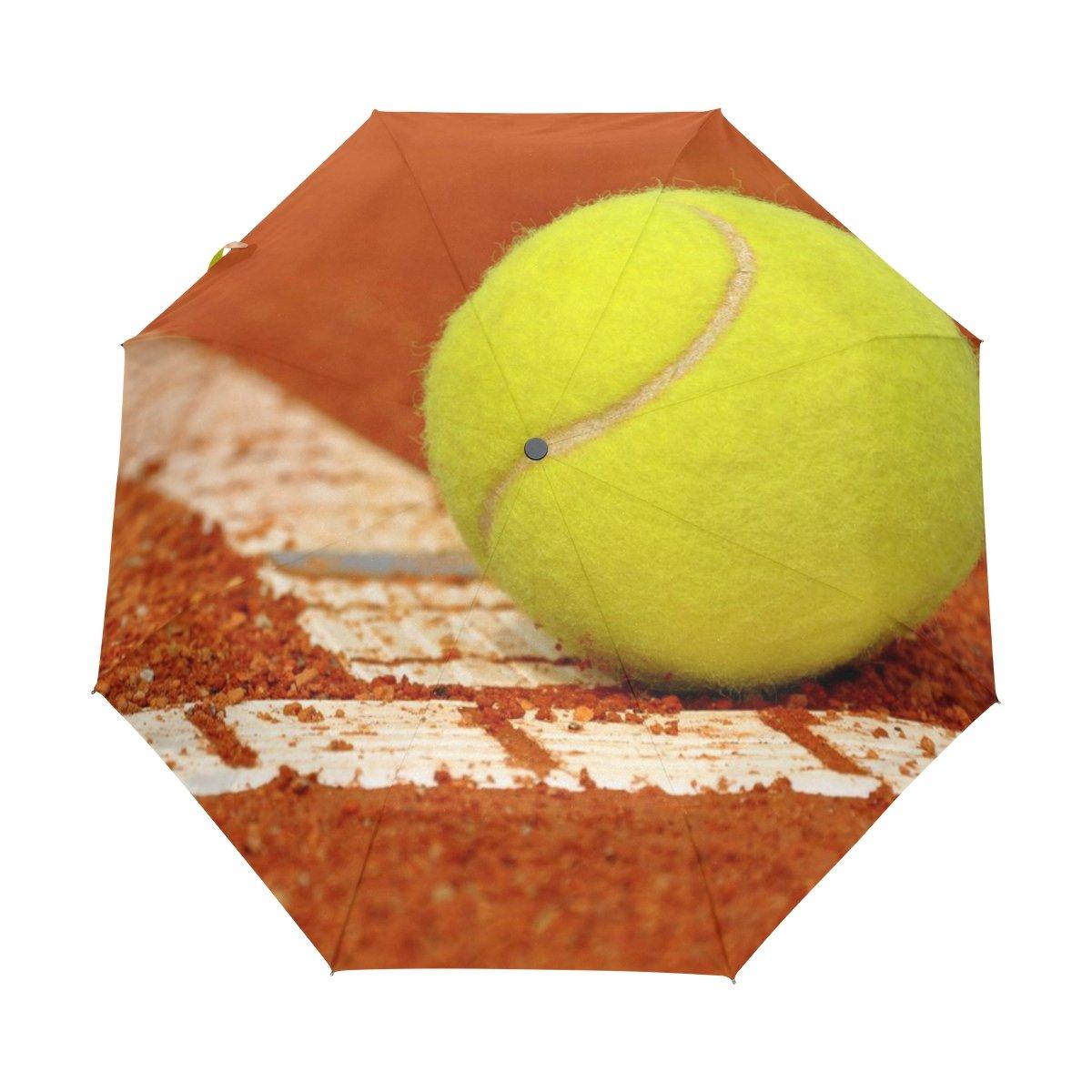 JSTeLテニス防風UV傘Auto Open Close 3折りたたみゴルフStrong Durableコンパクト旅行太陽傘、ポータブル軽量簡単キャリー   B06Y29W45T