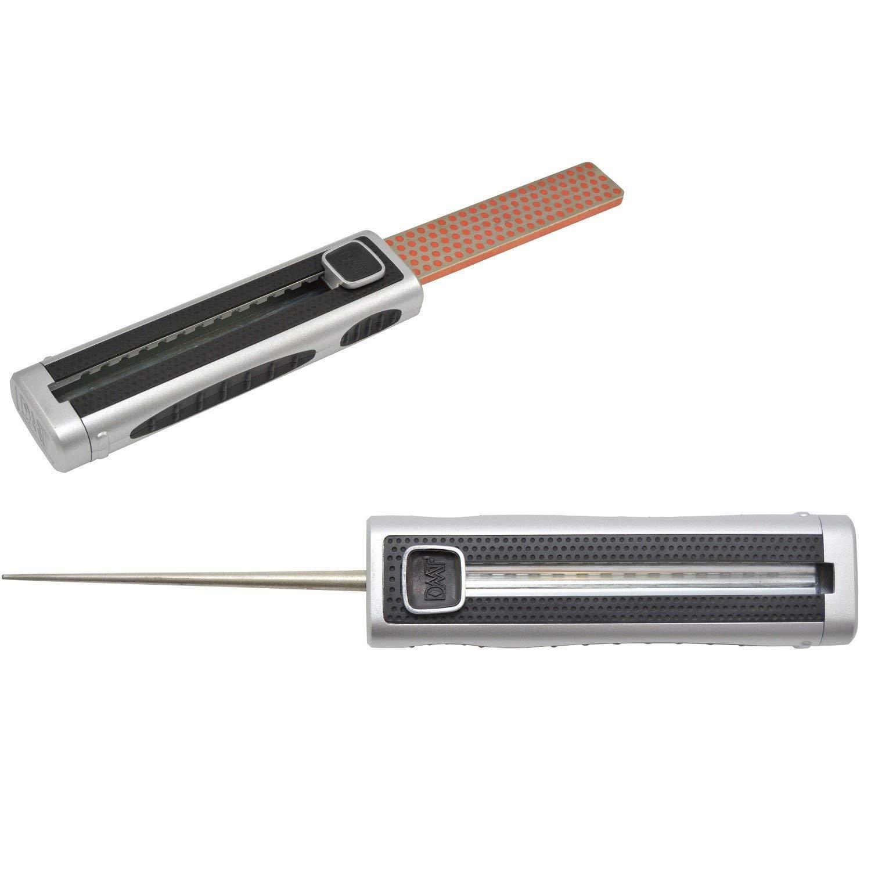 Extensible avec Un aff/ûteur pour Les Lames dent/ées DMT Sharp Diamant Slydr 20000 Fin 140 x 40 x 28 mm Grey