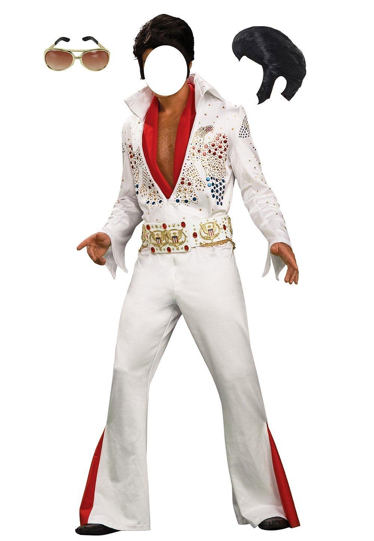 Photocall Photo Booth Props Photomaton Selfie en Carton Découpé Silhouette Grandeur Nature Personnage Elvis Presley événements ou célébrations ponctuels |1,00 m x 1,70 m | Fenêtre Découpée | Id&