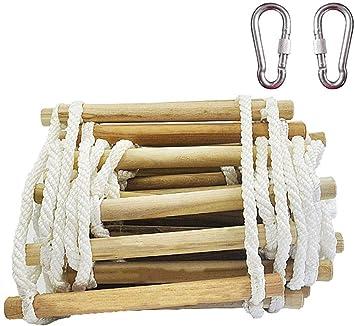 Emergencia escalera de incendios, Llama reutilizable de seguridad resistente escalera de cuerda con ganchos for niños y adultos Escape de ventana y balcón de 4 metros (13,1 pies): Amazon.es: Bricolaje y herramientas