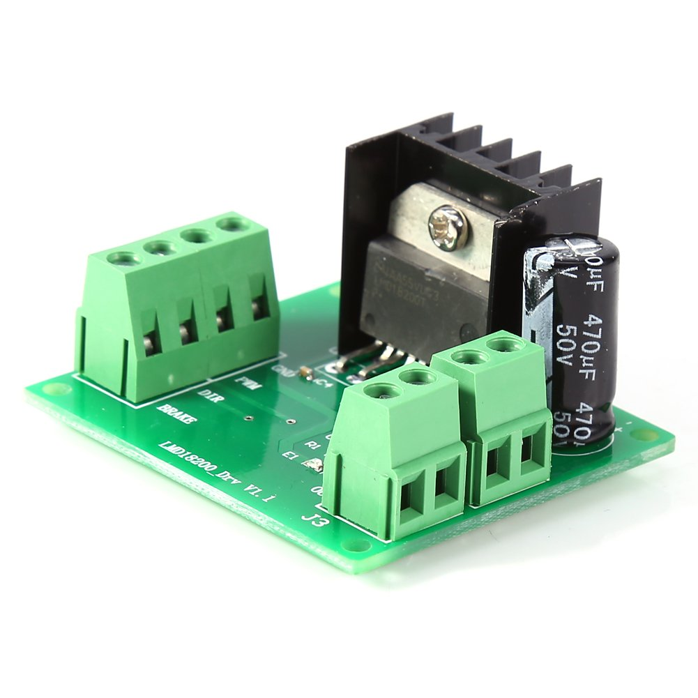 75W Motor Speed Control LMD18200T 3A PWM Adjustable Speed Motor Driver Module Board Controller for Robot Project Hilitand