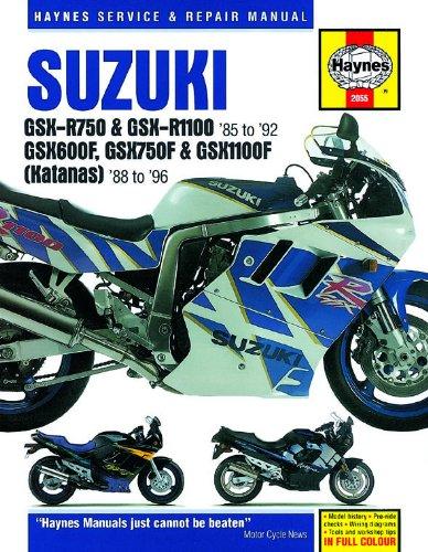 1987-1996 Suzuki Katana GSX 600 750 1100 GSXR GSXR750 GSXR1100 REPAIR MANUAL 2055 (Wiring Diagrams Service Manual)