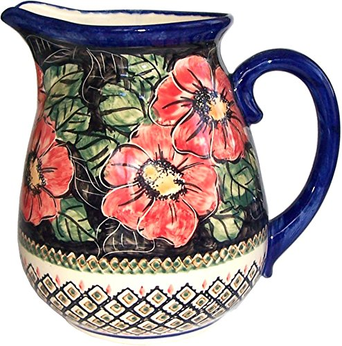 Polish Pottery 2 L - 8.5 cups Water Jug Pitcher - Eva's Collection
