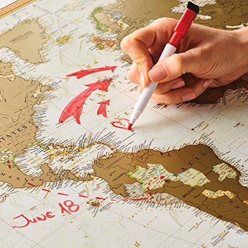 Antique edition gold scratch off world map very detailed 10000 antique edition gold scratch off world map very detailed 10000 cities big size gumiabroncs Gallery