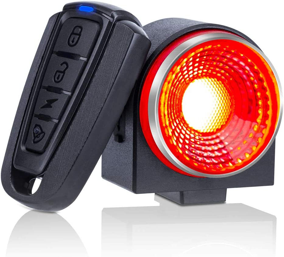 Onvian Smart Bike Tail Light Ultra Bright 115db Anti-Theft Motorcycle Bike Alarm with Remote, Waterproof Bicycle Security Cycling Alarm Vibration Sensor