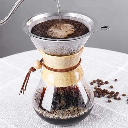 COKFEB Filtro de café Cafetera de Goteo de 600 ml, cafetera de ...
