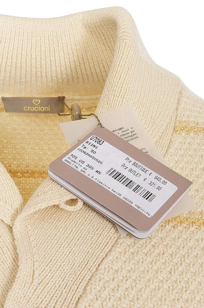 premium selection 01751 dd247 Cruciani Cardigan Men's Off-White Regular Fit Cotton Casual ...