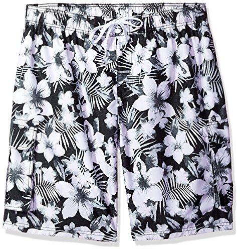 - Kanu Surf Men's Miles Swim Trunks (Regular & Extended Sizes), Dominica Black, 3X