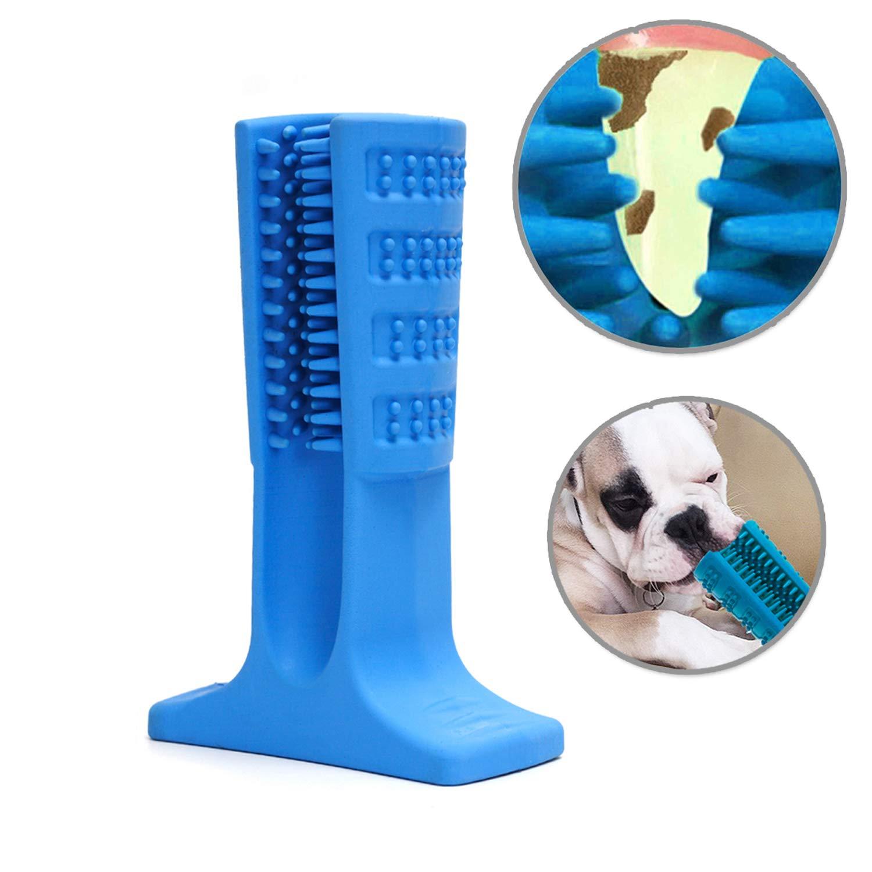 AUSHINE Dog Toothbrush Stick Brushing Stick - Dog Toothbrush Dog Tooth Brush Brite Bite for Dogs Pets Oral Care Puppy Toys Chew Toy Bone Chewers (Large, Blue) by AUSHINE