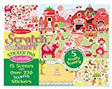 Melissa & Doug Scratch and Sniff Sticker Pad: Fruitville - 220+ Fruit-Scented Stickers