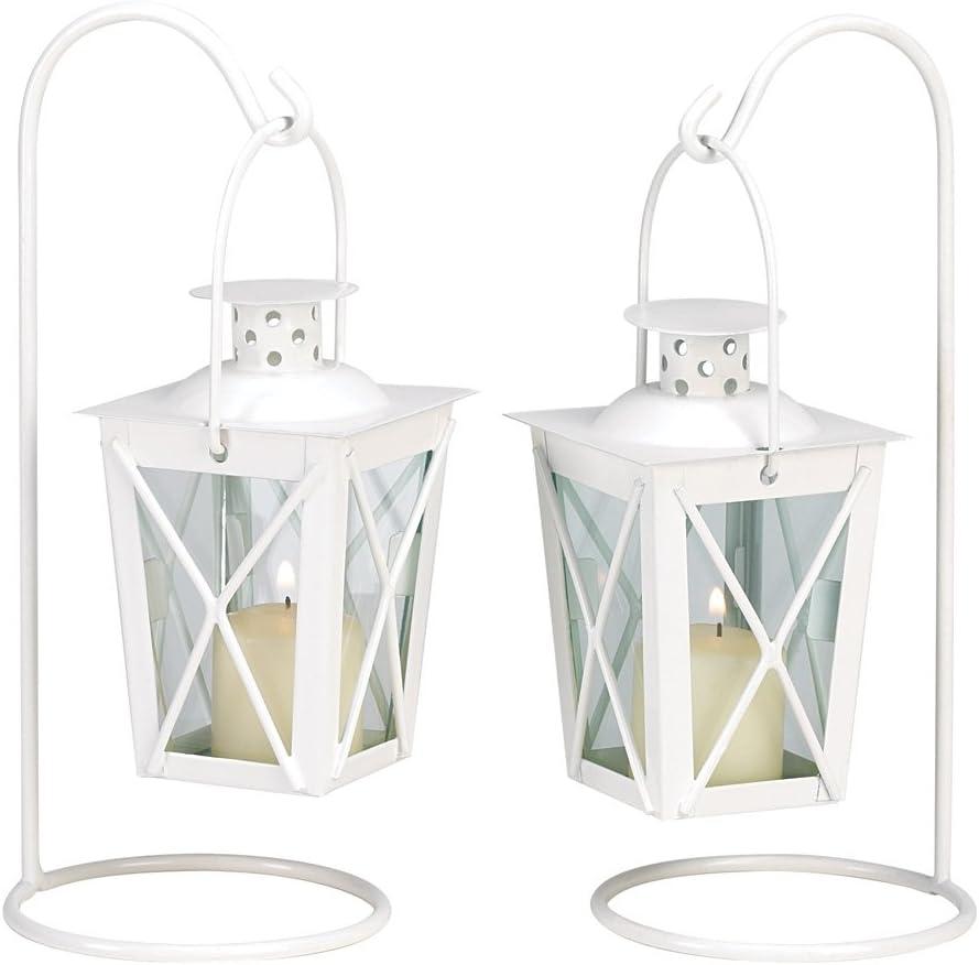 Gifts & Decor Koehler Home Decorative White Railroad Candle Lanterns
