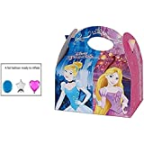 DISNEY PRINCESS PARTY MEAL BOX ~ Childrens Kids Carry Food Birthday Party Loot Bag Box ~ CINDERELLA / RAPUNZEL / SNOW WHITE / BELLE (6)