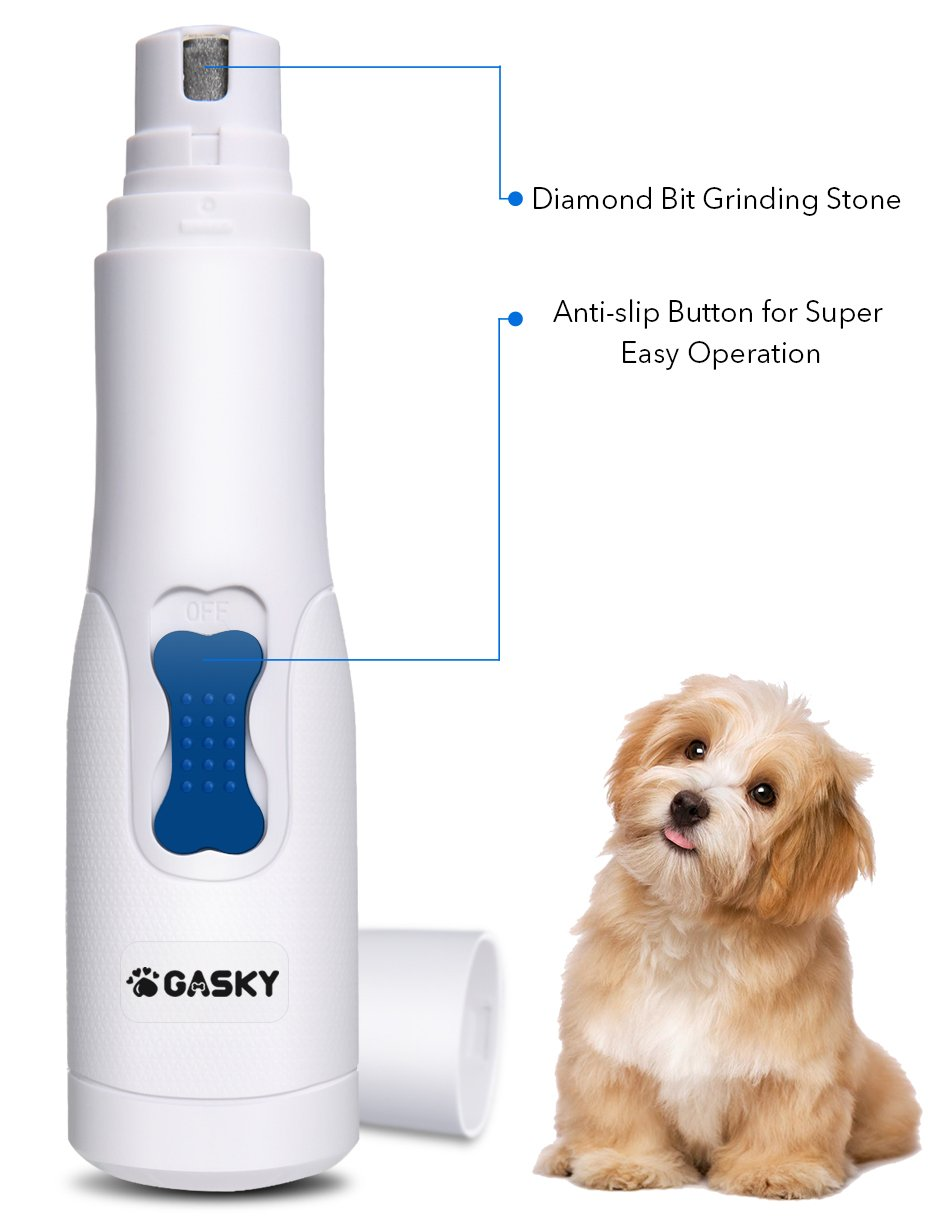 Dog Pet Nail Grinder for Small Medium Dog Cat - Cordless Gentle Painless Paws Clippers, Portable Grooming Trimmer for Fast Cutting