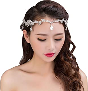 Amazoncom Crystal Frontlet Forehead Head Chain Wedding Bridal