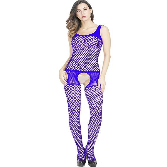 HCFKJ Sexy Mujer Erotica Ropa Interior Moda Malla LenceríA Hueco Rejillas  Babydoll Ropa Interior Camisa De 58cc4b89f66d