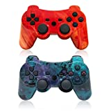 PS3 Wireless Controller Dual Vibration GamePad for PlayStation 3 Six-axis Gaming Joystick, up to 10m Remote Control, Support PC (Windows XP/7/8/10) with Charging Cable