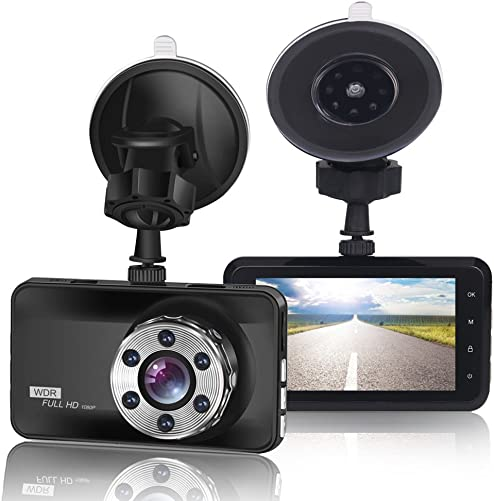 ORSKEY Dash Cam 1080P Full HD Car DVR Dashboard Camera Video Recorder in Car Camera Dashcam for Cars 170 Wide Angle WDR with 3.0 LCD Display Night Vision Motion Detection and G-Sensor
