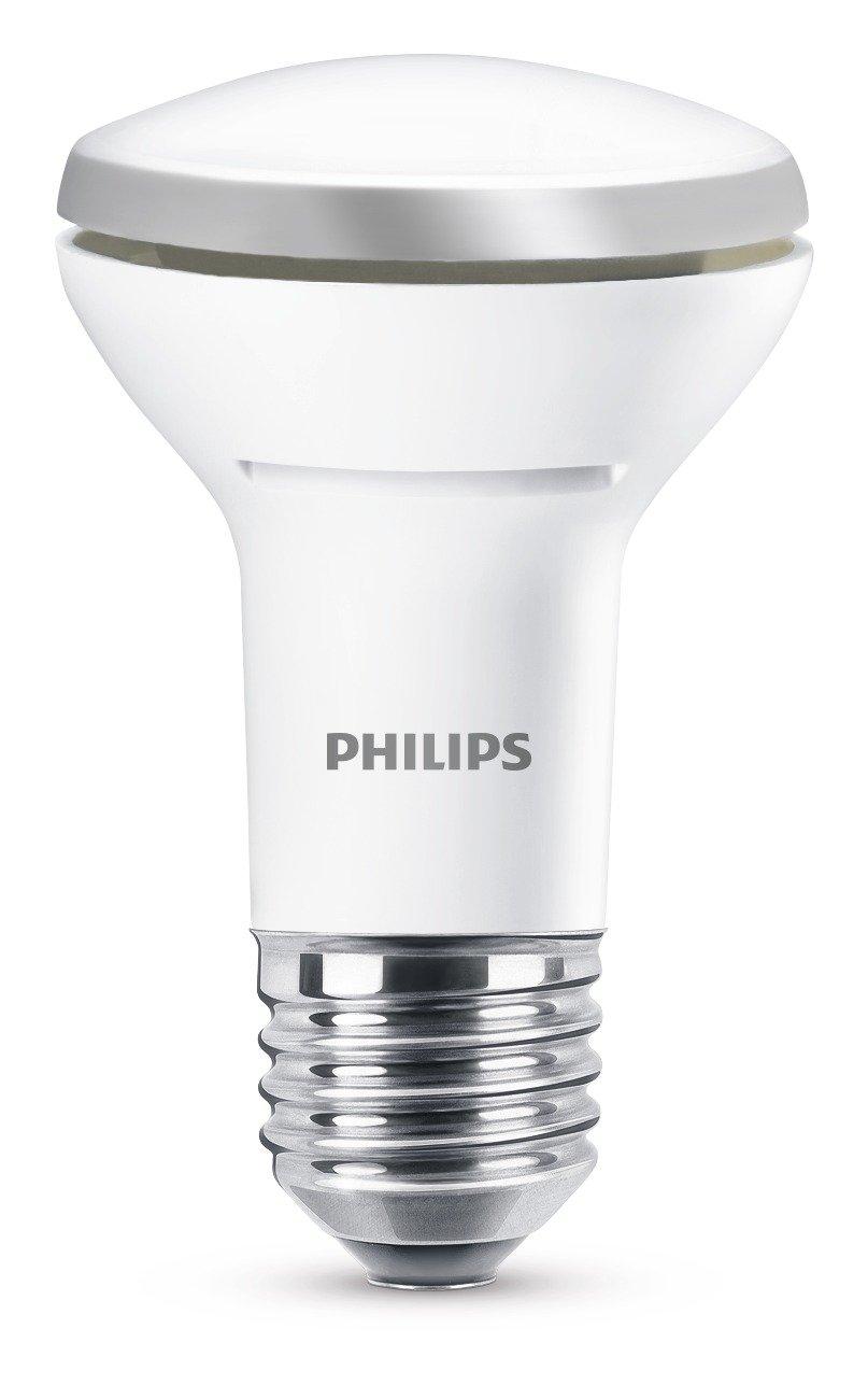 Philips Bombilla Reflector E27 929001233601-Bombilla LED, Casquillo, Consume (Equivalente a 40 W), no Regulable, luz cá lida, Blanco, 2.7 W luz cálida 929001233658 200 lúmenes Dormitorio Iluminacion Pasillo Reflectora Sala de estar Salón