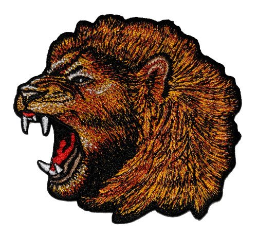 Angry Lion Zoo Safari Animal Wildlife DIY Applique Embroidered Sew Iron on Patch LO-001 (Patch The Lion)