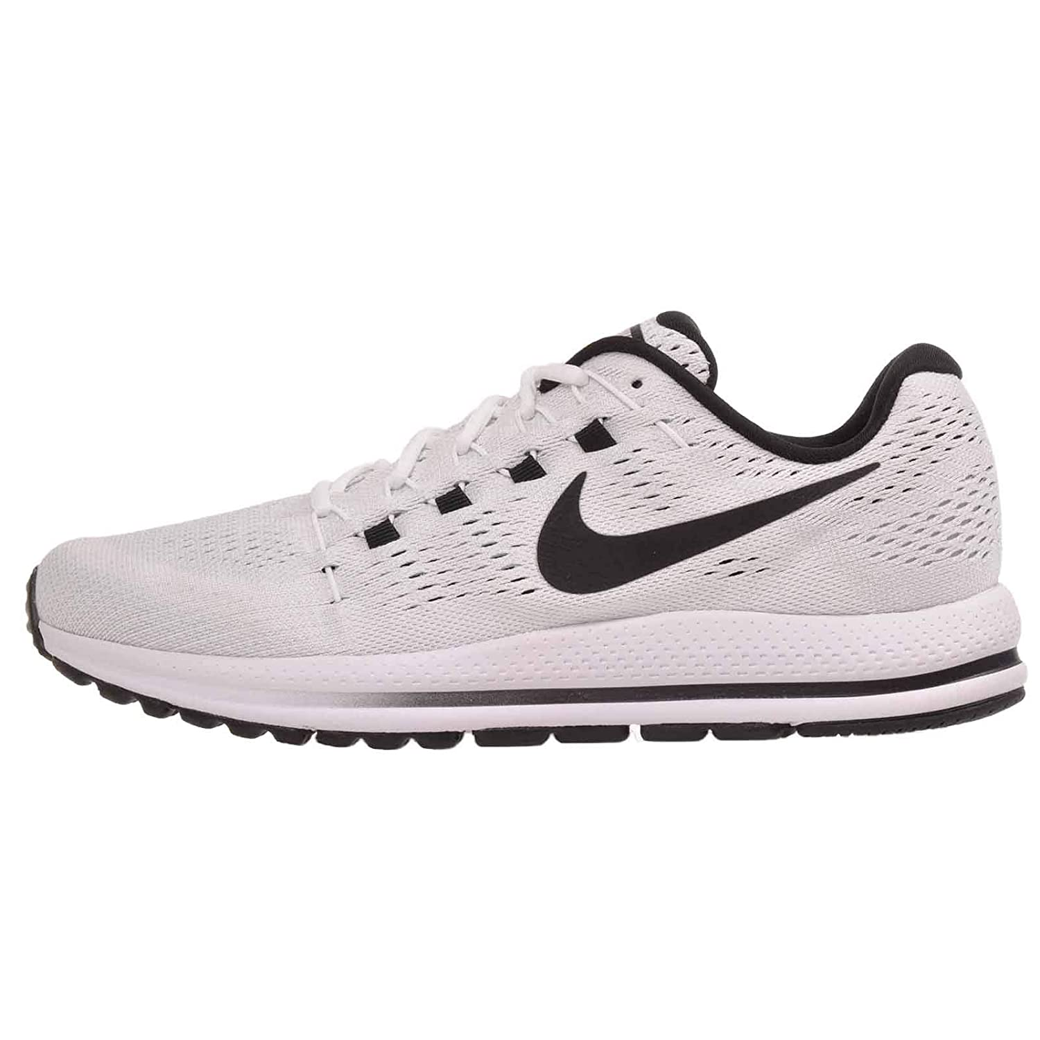 Nike Men's Air Zoom Vomero 12, WhiteBlack Pure Platinum, 14 M US