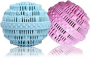 BERON Eco-Friendly Wash Ball Super Laundry Balls for 1500 Washings,Set of 2(Light Blue and Light Purple)