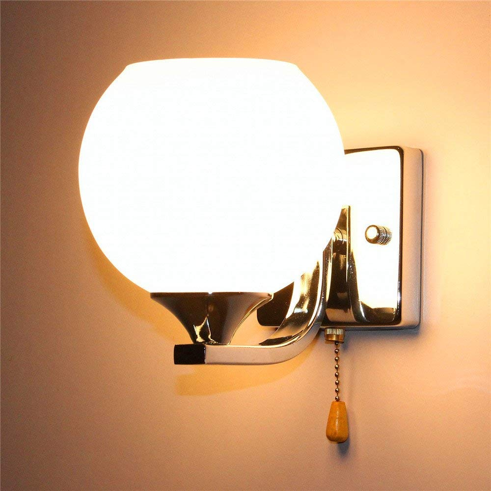 Eeayyygch Minimalistische Wandleuchte E26   27 Base Wandleuchte Nachttischlampe Kreative LED Wandleuchte Schlafzimmer Wohnzimmer Treppe Schlafzimmer B8056 (2419), Dual Head (Farbe   Single Head)