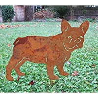 French Bulldog Garden Stake or Wall Hanging, Dog Memorial, Garden Art