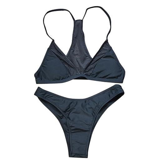 e0cd4b7fa1 Amazon.com  Women Bikini Set Solid Swimwear On Sale ODGear Swimsuit  Beachwear Padded Bra Clearance  Clothing