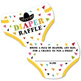 Big Dot of Happiness Let's Fiesta - Diaper Shaped Raffle Ticket Inserts - Mexican Fiesta Baby Shower Activities - Diaper Raffle Game - Set of 24