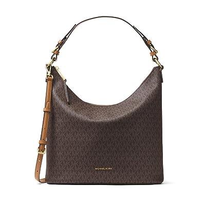 1eb5dd881e16 Amazon.com  MICHAEL Michael Kors Lupita Signature Large Hobo Shoulder Bag  brown  Shoes