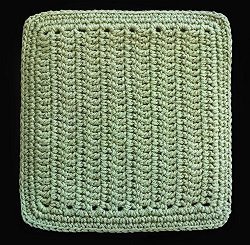 Crocheted Pot Holder - 100% Cotton Hand Crocheted Pot Holder Hot Pad Doily Color: SAGE