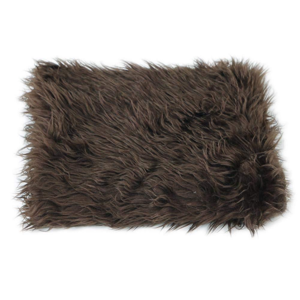 Luerme Newborn Faux Fur Wrap Baby Photography Props Blanket Newborn basket filler stuffer Photo Shoot baby Throw rug 50 * 50CM