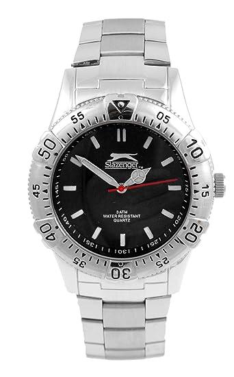 Slazenger Reloj Analógico para Hombre de Cuarzo con Correa en Acero Inoxidable SLZ103A: Amazon.es: Relojes